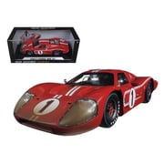 Shelby Collectibles 1967 Ford GT MK IV No.1 Red LeMans After Race Version Winner 24 Hours 1-18 Diecast Model Car (DTDP1086)