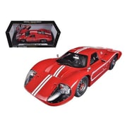 Shelby Collectibles 1967 Ford GT MK IV Red 1-18 Diecast Car Model (DTDP1079)