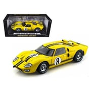 Shelby Collectibles 1966 Ford GT-40 MK 2 Yellow No.8 1-18 Diecast Car Model (DTDP1078)