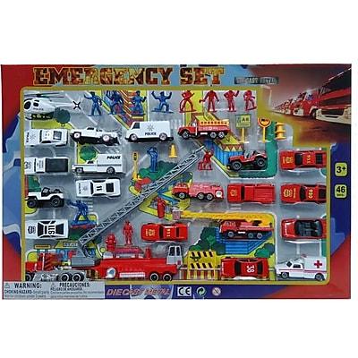 DDI 46 Piece Diecast Emergency Set, Case