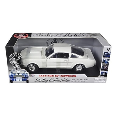 Shelby Collectibles 1966 Ford Shelby Mustang GT 350 Fastback White 1-18 Diecast Model Car (DTDP1051)