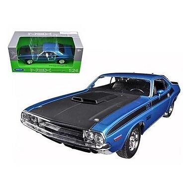 Welly 1970 Dodge Challenger T A Blue 1-24 Diecast Model Car (DTDP1100)