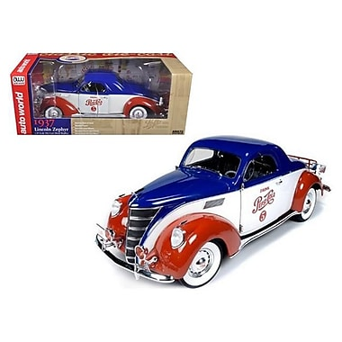 Autoworld 1937 Lincoln Zephyr Coupe Pepsi Cola Limited to 1500 Piece 1-18 Diecast Model Car (DTDP1718)