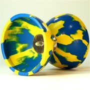 Zeekio Triple Bearing Triple Threat Diabolo, Blue And Yellow (YYSM053)