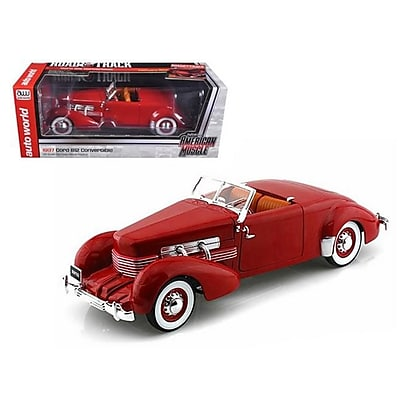 Autoworld 1937 Cord Convertible Red Road &