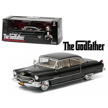 Greenlight 1 by 43 Diecast The Godfather 1955 Cadillac Fleetwood Series 60 Special Black 1972 Movie Model Car (DTDP3104)