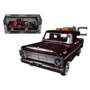 Motormax 1969 Ford F-100 Tow Truck Burgundy 1-24 Diecast Model (DTDP627)