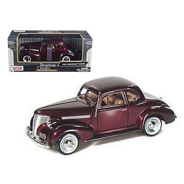 Motormax 1939 Chevrolet Coupe Burgundy 1-24 Diecast Model Car (DTDP465)