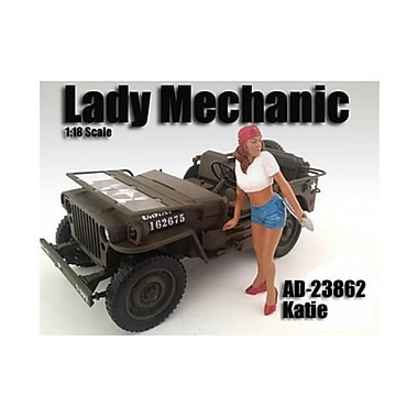 American Diorama Lady Mechanic Katie Figure for 1-18 Scale Models (DTDP2019)