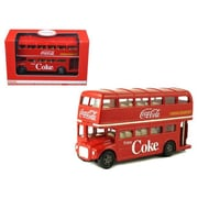 Motorcity Classics 1 by 64 Diecast 1960 Routemaster London Double Decker Bus Coca-Cola Model (DTDP2978)