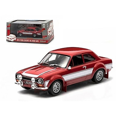 Greenlight 1974 Ford Escort RS 2000 MKI Red 1-43 Diecast Car Model (DTDP1515)
