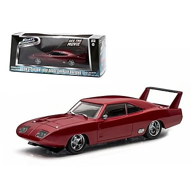 Greenlight Doms 1969 Dodge Charger Daytona Maroon Fast & Furious 6 Movie 2013 1-43 Diecast Model Car (DTDP2134)
