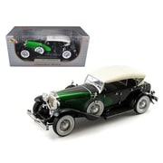 Signature Models 1934 Duesenberg Model J Black & Green 1-18 Diecast Model Car (DTDP919)
