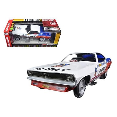 Autoworld 1 by 18 Scale Don Prudhomme Army 1973 Plymouth Cuda Funny Car Red, White & Blue to Model Car, 1002 Piece (DTDP2855)