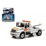 Greenlight International Durastar 4400 Tow Truck White with Flames 1-64 Diecast Model (DTDP1410)