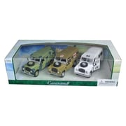 Cararama 1 by 43 Diecast Land Rover Series III Military 3pc Gift Set Model Cars (DTDP3010)