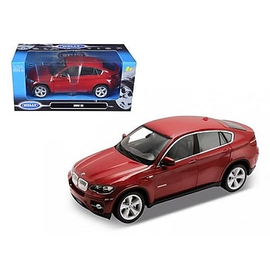 Welly 2011 2012 BMW X6 Red 1-24 Diecast Car Model (DTDP1204)