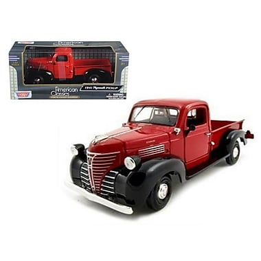 Motormax 1941 Plymouth Pickup Red 1-24 Diecast Model Car (DTDP580)