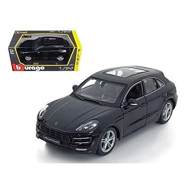 Bburago Porsche Macan Turbo Black 1-24 Diecast Model Car (DTDP404)