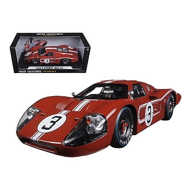 Shelby Collectibles 1967 Ford GT MK IV No.3 Brown LeMans 24 Hours M.Andretti L.Bianchi 1-18 Diecast Model Car (DTDP1084)