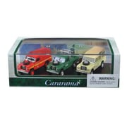 Cararama 1 by 72 Scale Diecast Land Rover Gift Set in Display Showcase Model Car, 3 Piece (DTDP3018)