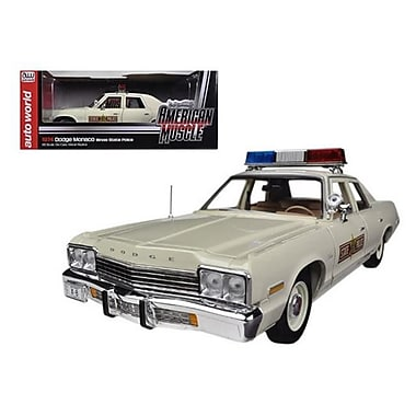 Autoworld 1974 Dodge Monaco Illinois State Police Car Limited to 2000 Piece 1-18 Diecast Model Car (DTDP1727)