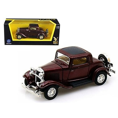 Road Signature 1932 Ford 3 Window Coupe Burgundy 1-43 Diecast Car Model (DTDP873)