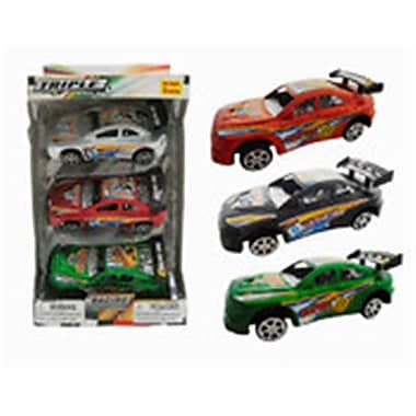 DDI 6.0 in. Friction Sport Car Set - 3 Piece, Assorted Colors (DLR339504)