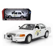 Motormax Ford Crown Victoria California Highway Patrol Car White 1-18 Diecast Model Car (DTDP727)