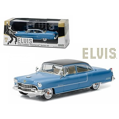 Greenlight 1 by 43 Diecast Elvis Presley 1955 Cadillac Fleetwood Series 60 Blue Cadillac 1935-1977 Model Car (DTDP3087)