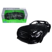 Welly 2015 Ford Mustang GT Diecast Model Car for 1-24, Black (DTDP3817)