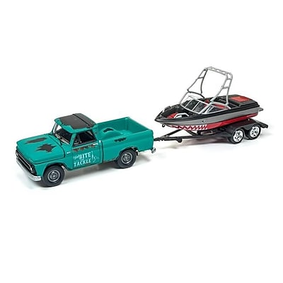 Johnny Lightning 1965 Chevrolet Truck with Boat