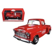 Motorcity Classics 1955 Chevrolet Stepside Pickup Truck Coca Cola with Commercial Cooler 1-24 Diecast Model (DTDP2529)