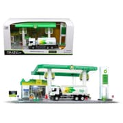 RMZ City BP Service Gas Station with Tanker Play Set for 1-64 Scale (DTDP3729)