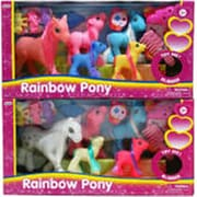 Arcady 6.5 in. Rainbow Pony, Assorted Color (DLR340012)