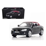Norev 2009 Audi A5 Convertible Brilliant Black 1-18 Diecast Model Car (DTDP1292)