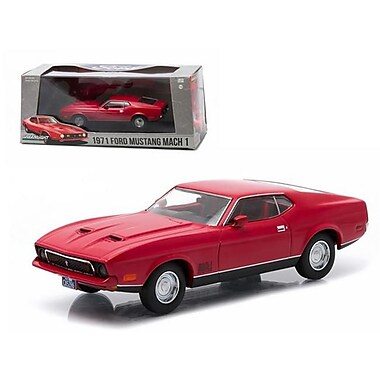Greenlight 1971 Ford Mustang Mach 1 Red Greenlight Exclusive 1-43 Diecast Model Car (DTDP1492)