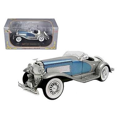 Signature Models 1935 Duesenberg SSJ Blue Silver 1-32 Diecast Model Car (DTDP972)