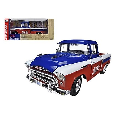 Autoworld 1957 Chevrolet Cameo Pickup Truck Pepsi Cola Limited to 1250 Piece 1-18 Diecast Model Car (DTDP1778)