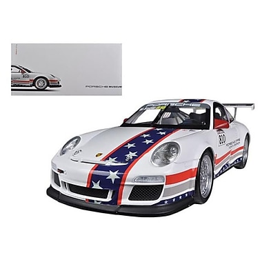 Welly Porsche North America Team 911 GT3 CUP USA No. 810 Museum Collection 1-18 Diecast Car Model (DTDP1140)