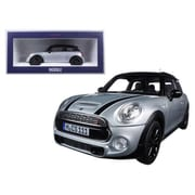 Norev 2015 Mini Cooper S Silver Metallic & Black 1-18 Diecast Model Car (DTDP1277)