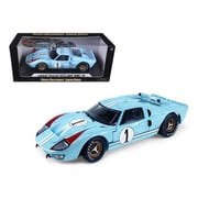 Shelby Collectibles 1966 Ford GT-40 MK 2 Blue No.1 1-18 Diecast Model Car (DTDP1074)