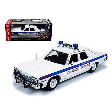 Autoworld 1974 Dodge Monaco Chicago Department Police Car Limited to 2000 Piece 1-18 Diecast Model Car (DTDP1701)