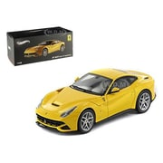 Hot wheels Ferrari F12 Berlinetta Yellow Elite Edition 1-43 Diecast Car Model (DTDP2425)