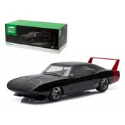 Greenlight 1969 Dodge Charger Daytona Custom Black with Red Rear Wing 1-18 Diecast Model Car (DTDP1697)