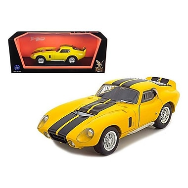 Road Signature 1965 Shelby Cobra Daytona Coupe Yellow 1-18 Diecast Model Car (DTDP837)