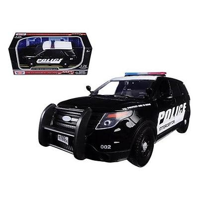 Motormax 2015 Ford Interceptor Police Car Black