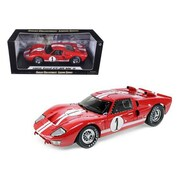 Shelby Collectibles 1966 Ford GT-40 MK 2 Red No.1 1-18 Diecast Model Car (DTDP1072)
