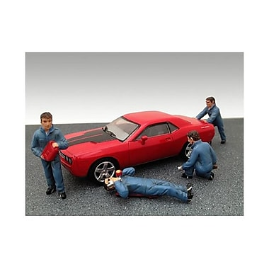 American Diorama Mechanics 4 Figure Set for 1-43 Diecast Model Cars (DTDP2386)