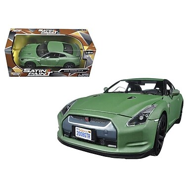 Motormax 1 by 24 Scale Diecast 2008 Nissan GT-R R35 Matt Green Model Car (DTDP2889)